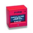 Descriere: buton de incendiu rosu, adresabil
